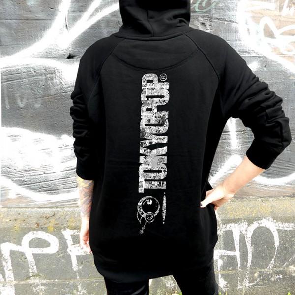 Schwarzer Hoodie TOKYOPOP Logo Panel Rücken