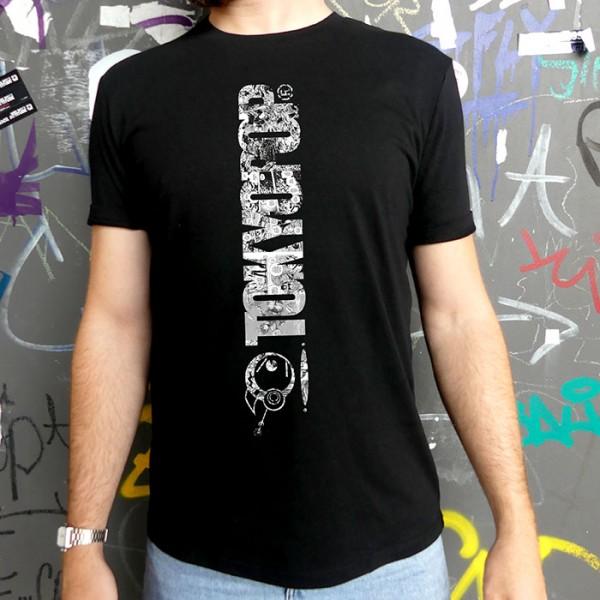Schwarzes T-Shirt TOKYOPOP Logo Panel Brust