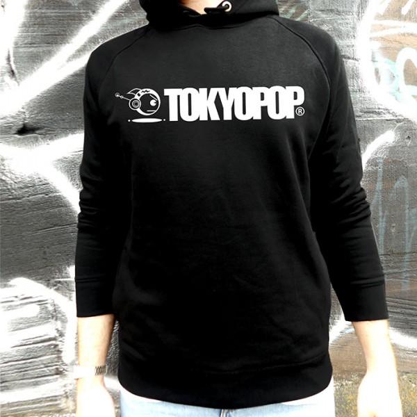 Schwarzer Hoodie TOKYOPOP Logo weiß