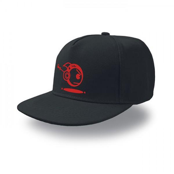 Schwarze Snap Cap TOKYOPOP Robofisch rot
