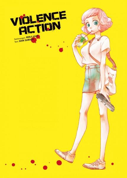 Postkarte - Violence Action