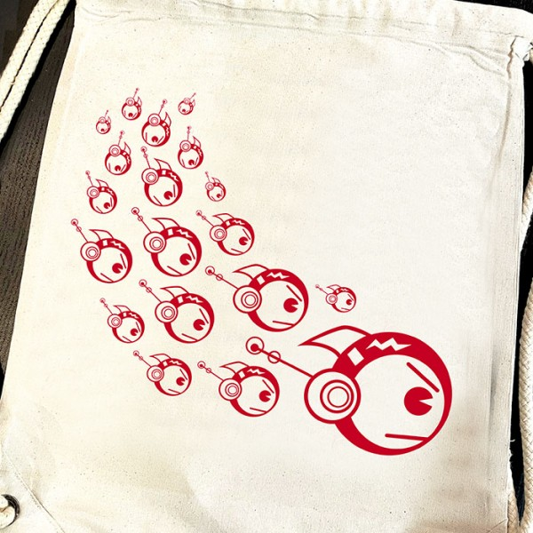 Natur Gymbag TOKYOPOP Robofisch Schwarm rot
