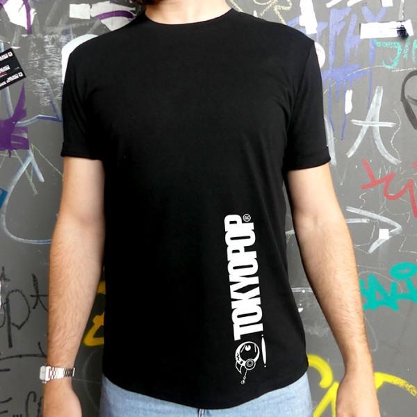 Schwarzes T-Shirt TOKYOPOP Logo am Saum