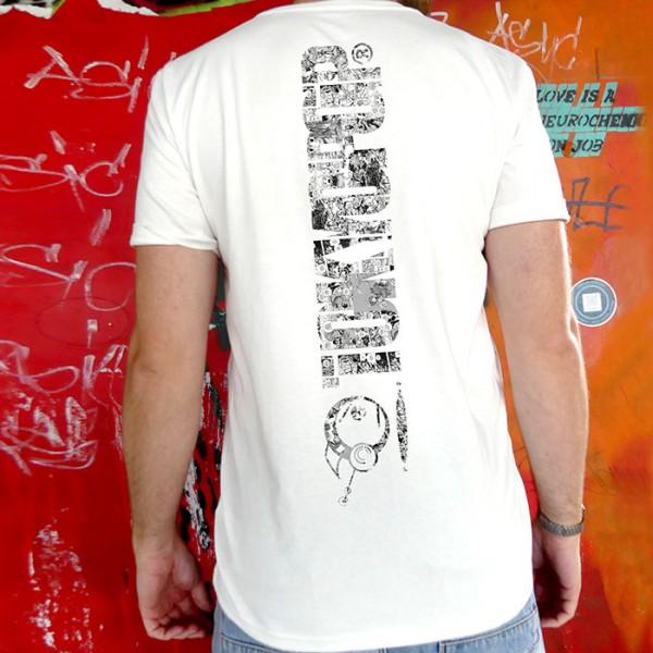 Weißes T-Shirt TOKYOPOP Logo Panel Rücken