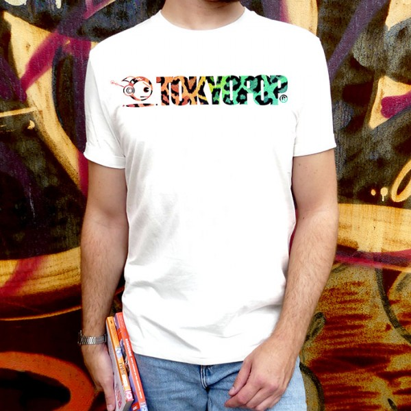 Weißes T-Shirt TOKYOPOP Logo Leoprint