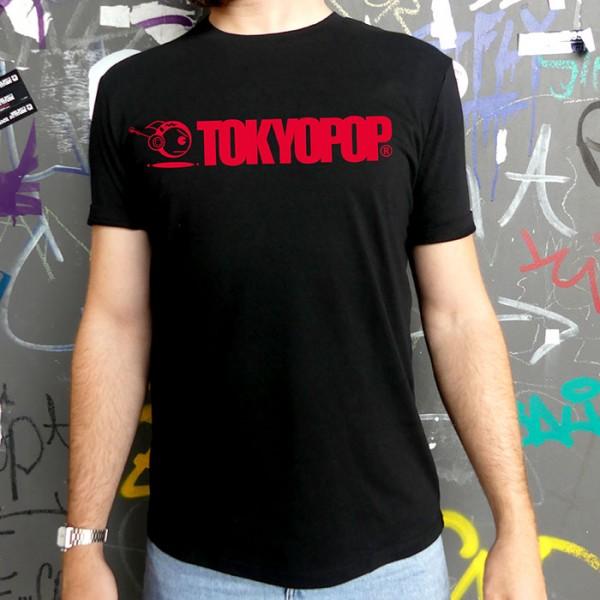Schwarzes T-Shirt TOKYOPOP Logo rot