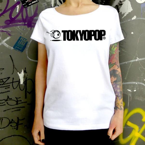 Weißes T-Shirt TOKYOPOP Logo schwarz