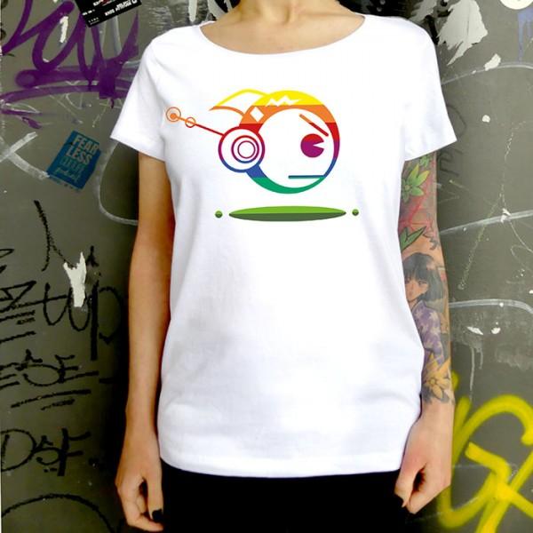 Weißes T-Shirt TOKYOPOP Robofisch Rainbow