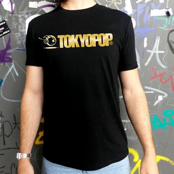 Schwarzes T-Shirt TOKYOPOP Logo gold